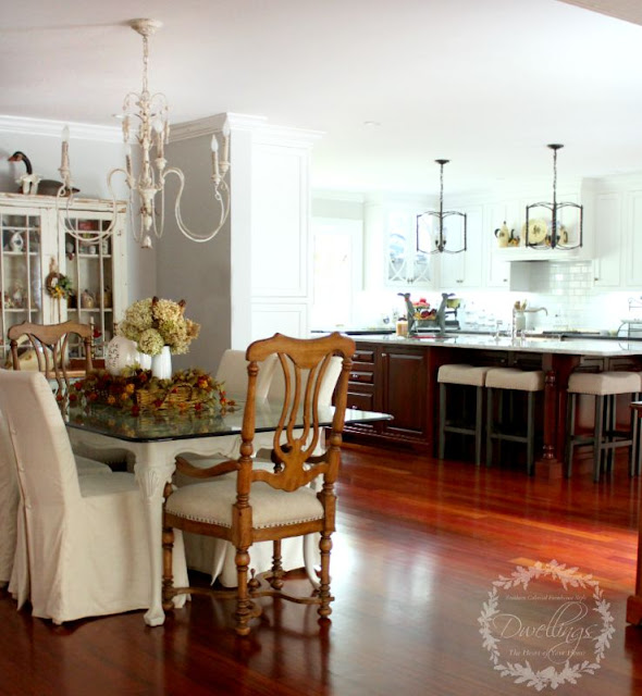 Fall farmhouse kitchen ... Fall Home Tour 2015 ~ DWELLINGS - The Heart of Your Home