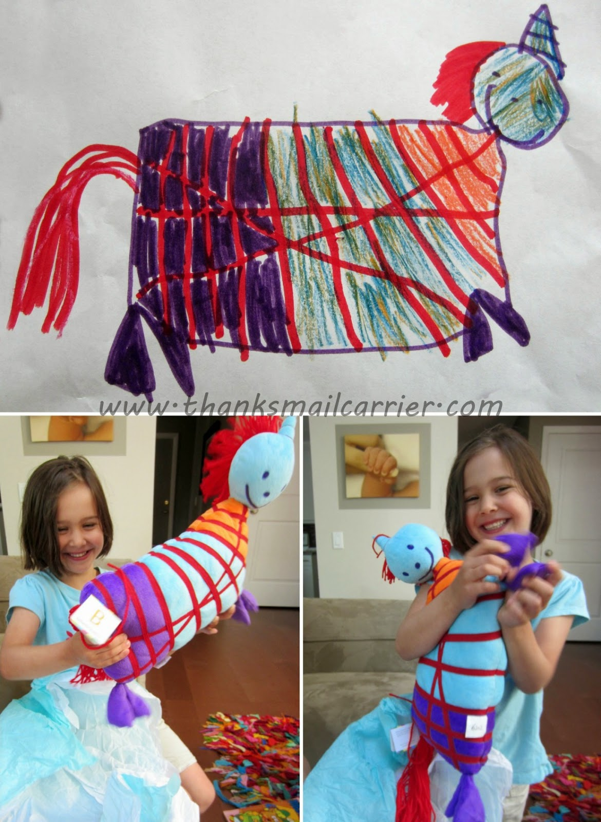 child unicorn drawing