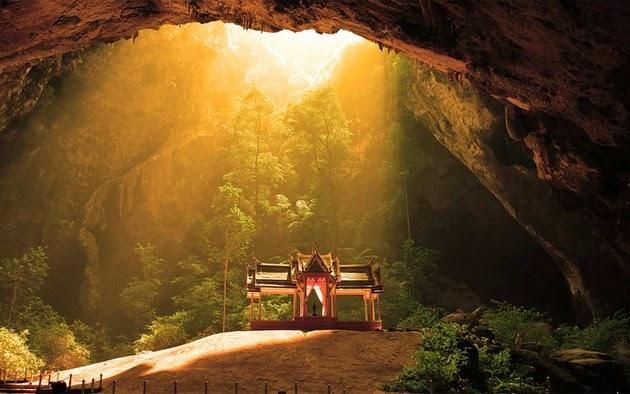 Temple inside Phraya Nakhon cave, Thailand