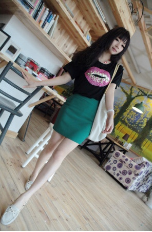 Tshirt and Bandage Skirt