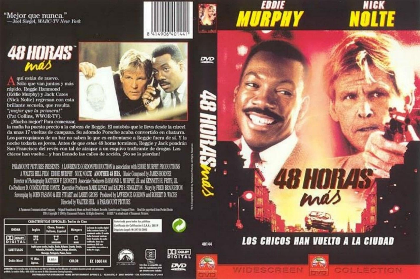 48 Horas más | 1990 | Another 48 Hours | Cover, caratula, dvd