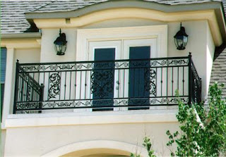 Modern homes Iron grill balcony designs.