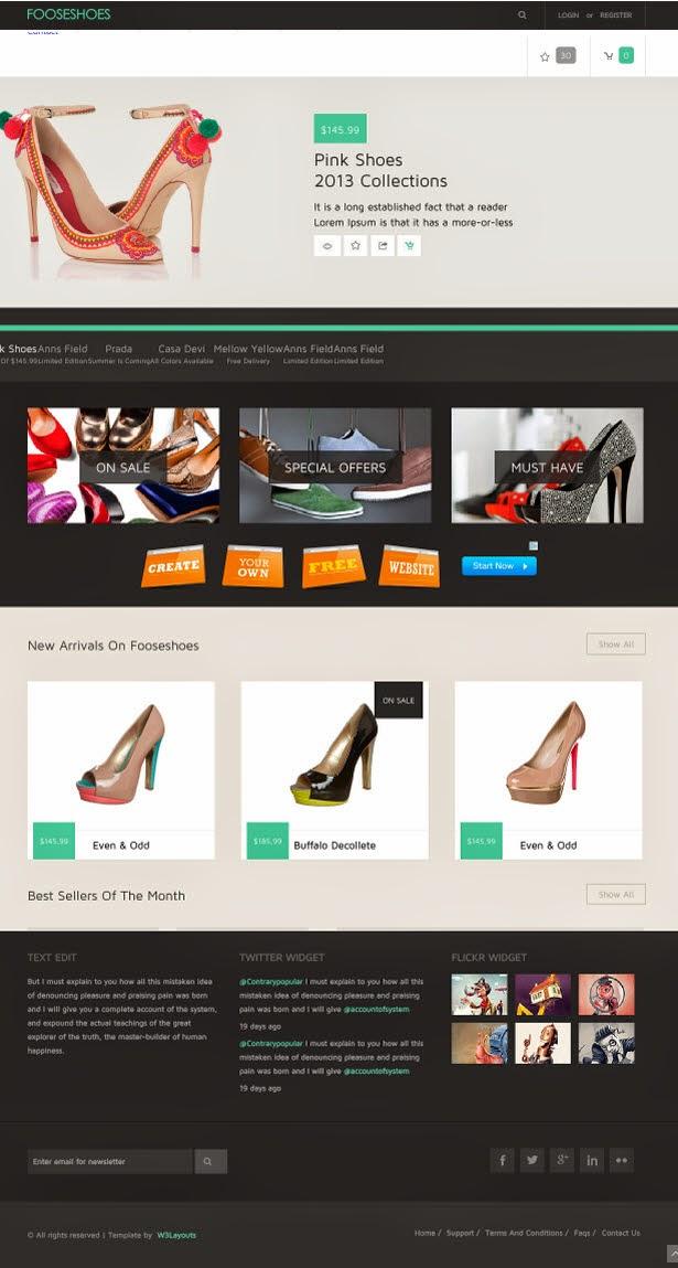 FooseShoes Flat ECommerce Responsive Web Template