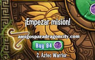 imagen de la segunda parte de la isla azteca de dragon city