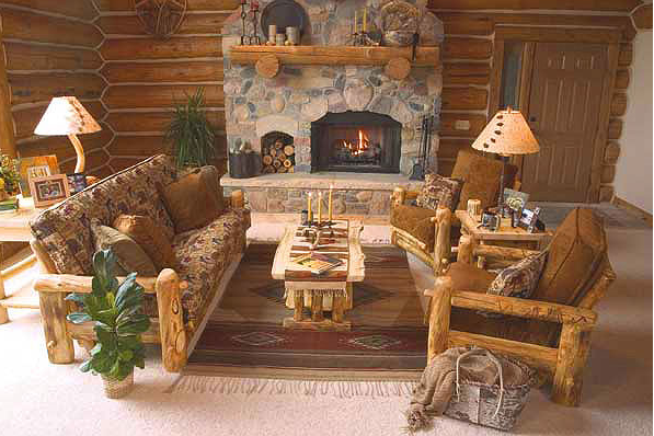 rustic decor living