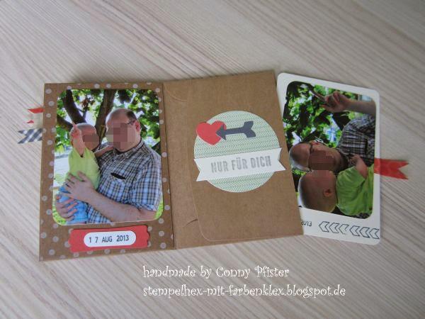 Stempelhex mit farbenklex fotoalbum zum vatertag for Selbstgemachtes fotoalbum