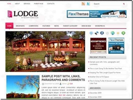 Lodge WordPress theme