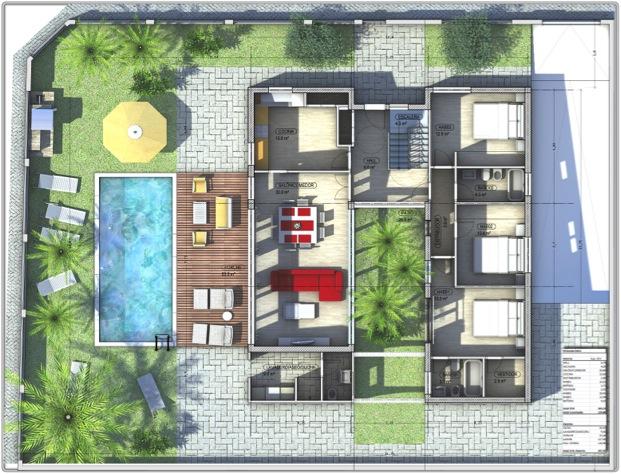 Casas prefabricadas y modulares planos luxury for Planos de casa con piscina interior