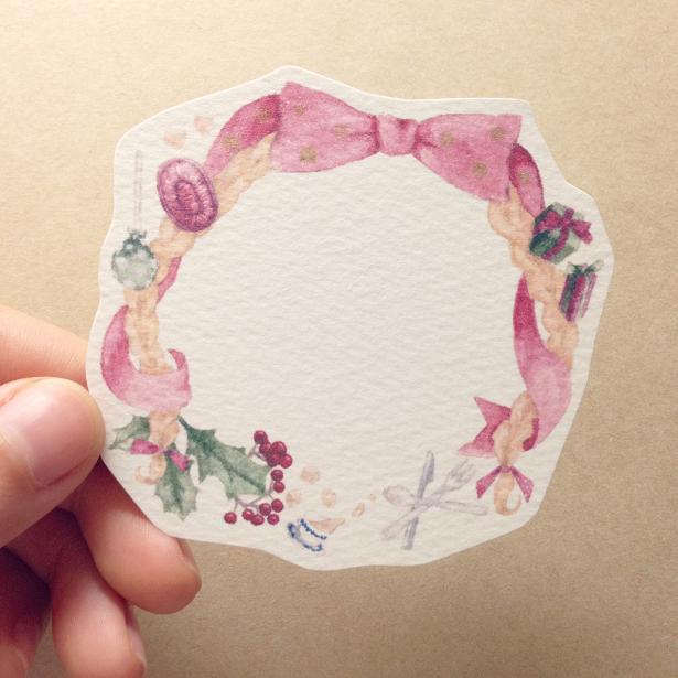 クリスマスのお茶会カード