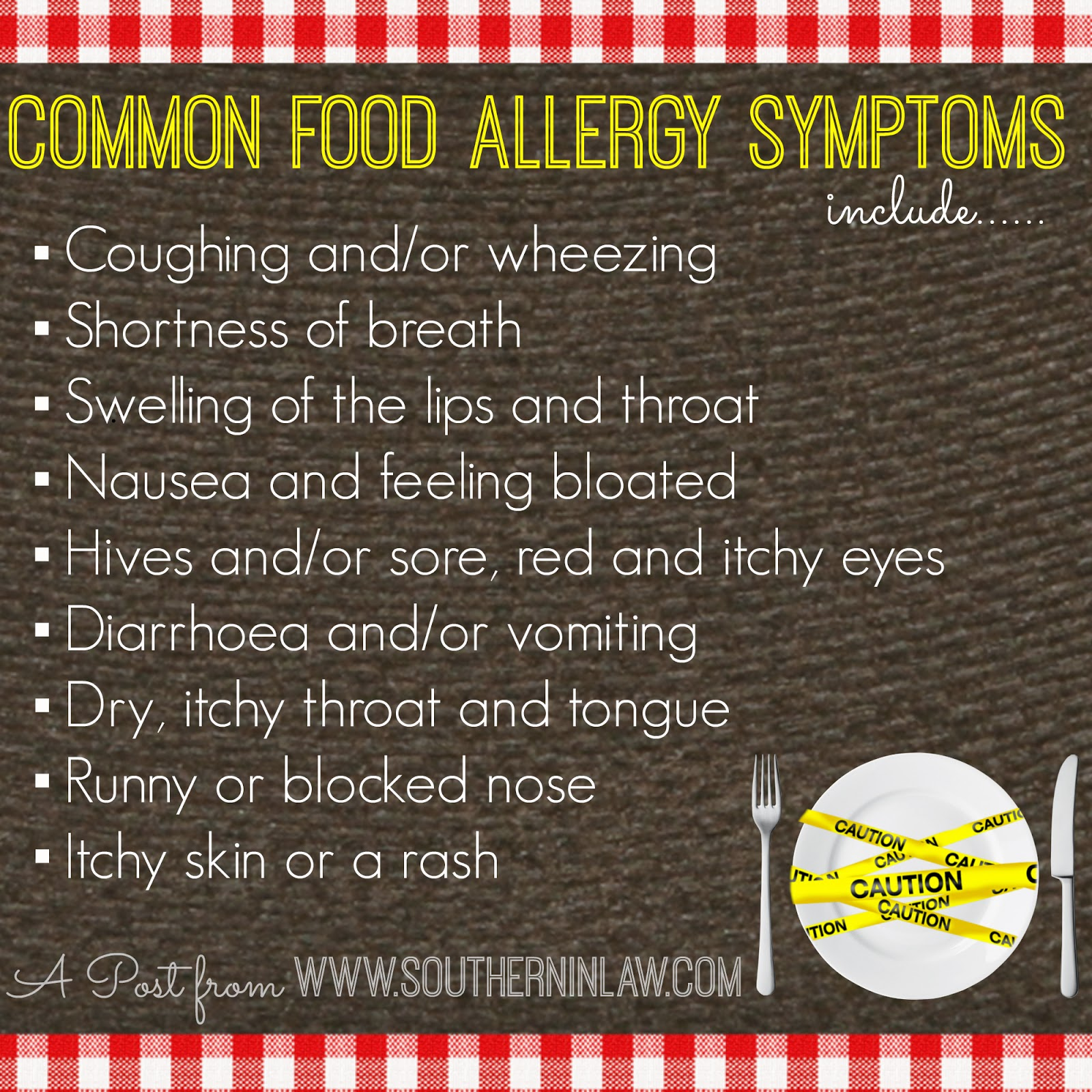 Common food allergy symptoms - The difference between food allergies and intolerances
