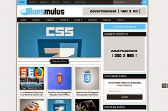 Bluesmulus Magazine Blogger Template