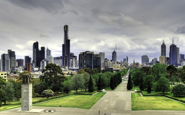 Melbourne Hermosa Ciudad Australiana Paisajes de Ciudades