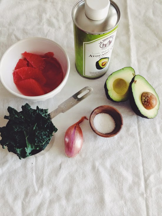 Grapefruit & Avocado Kale Salad (AIP)