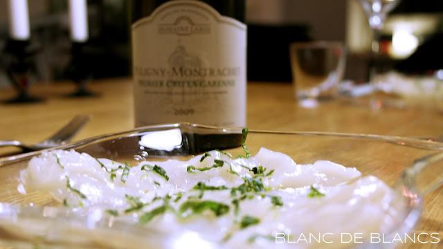 Carpaccio de Saint Jacques - www.blancdeblancs.fi