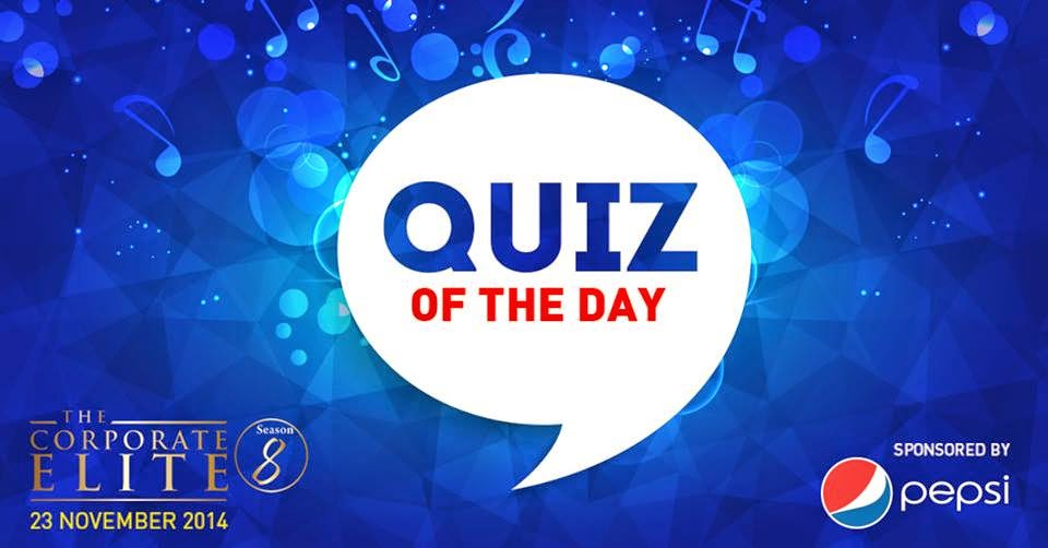 QUIZ OF THE DAY: WIN 2 FREE tickets to the Pepsi Corporate Elite Season 8.