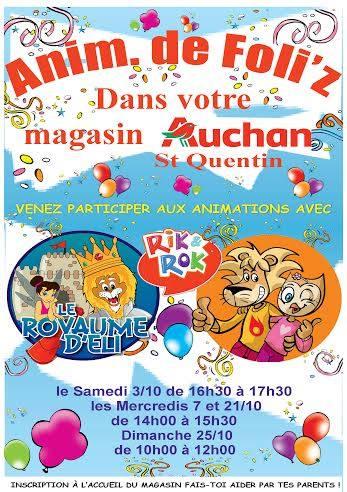Auchan saint quentin agenda du mois d 39 octobre 2015 for Auchan saint quentin adresse