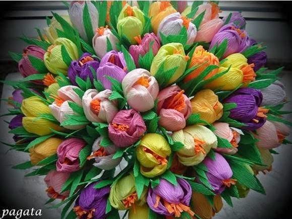 Цветы из гофра