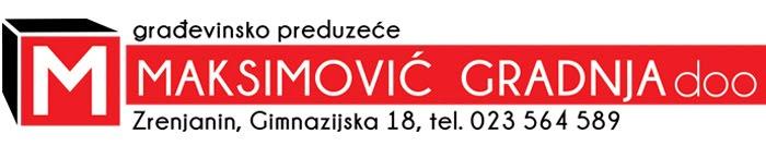 ''Maksimović-Gradnja'' d.o.o-Zrenjanin