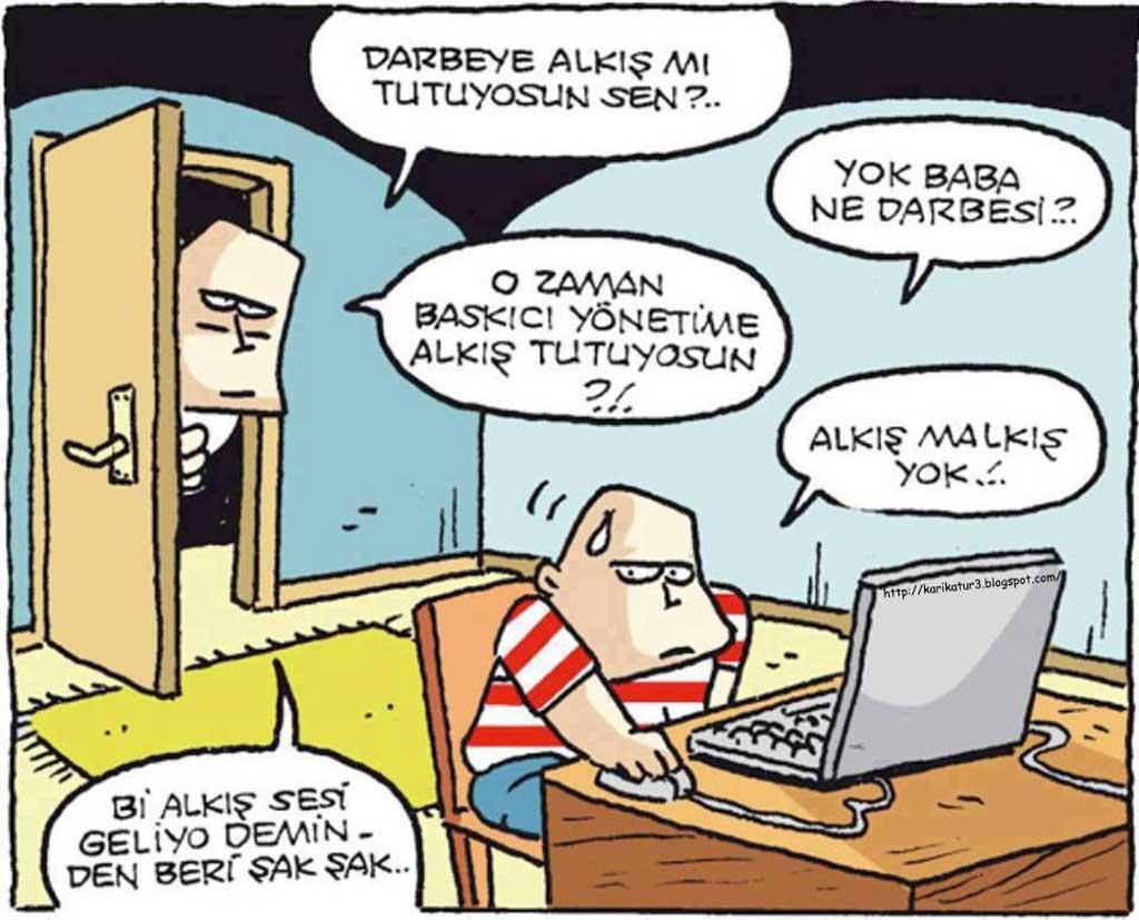 Şak şak özer aydoğan karikatür komik karikatürler çok komik