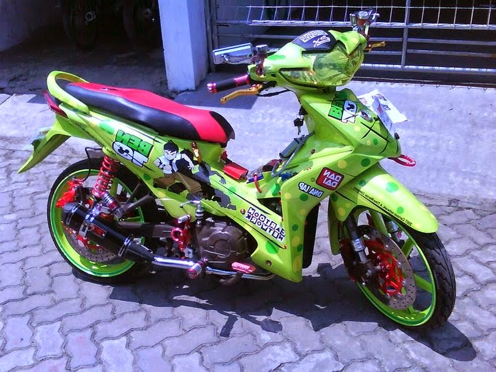 Modifikasi Honda Revo Aribrush