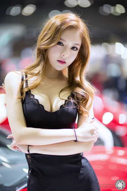 1 Yu Jin - Seoul Motor Show 2015 - very cute asian girl-girlcute4u.blogspot.com