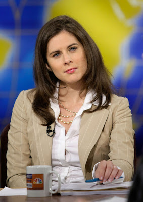 news anchor erin burnett in cnbc studio