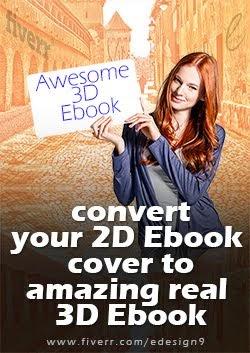 3D Ebook Mockup Service