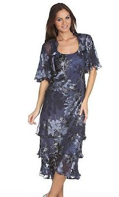Alex+Evenings+Floral-Print+Jacket+Dress