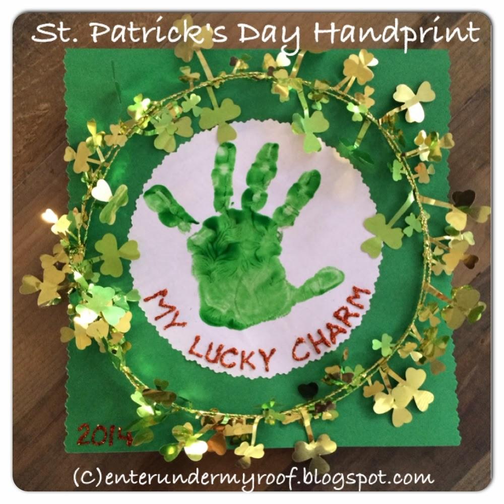 Activity my lucky charm handprint craft for saint patrick s day