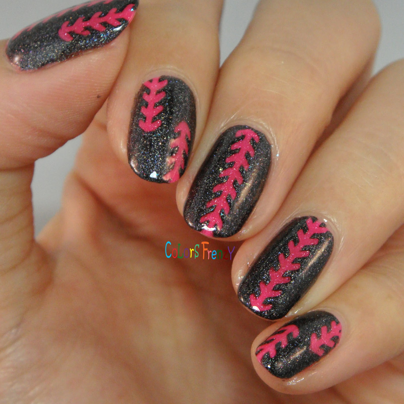 Colors Frenzy Picture Polish Sizzle Swatches Nail Art W Badass