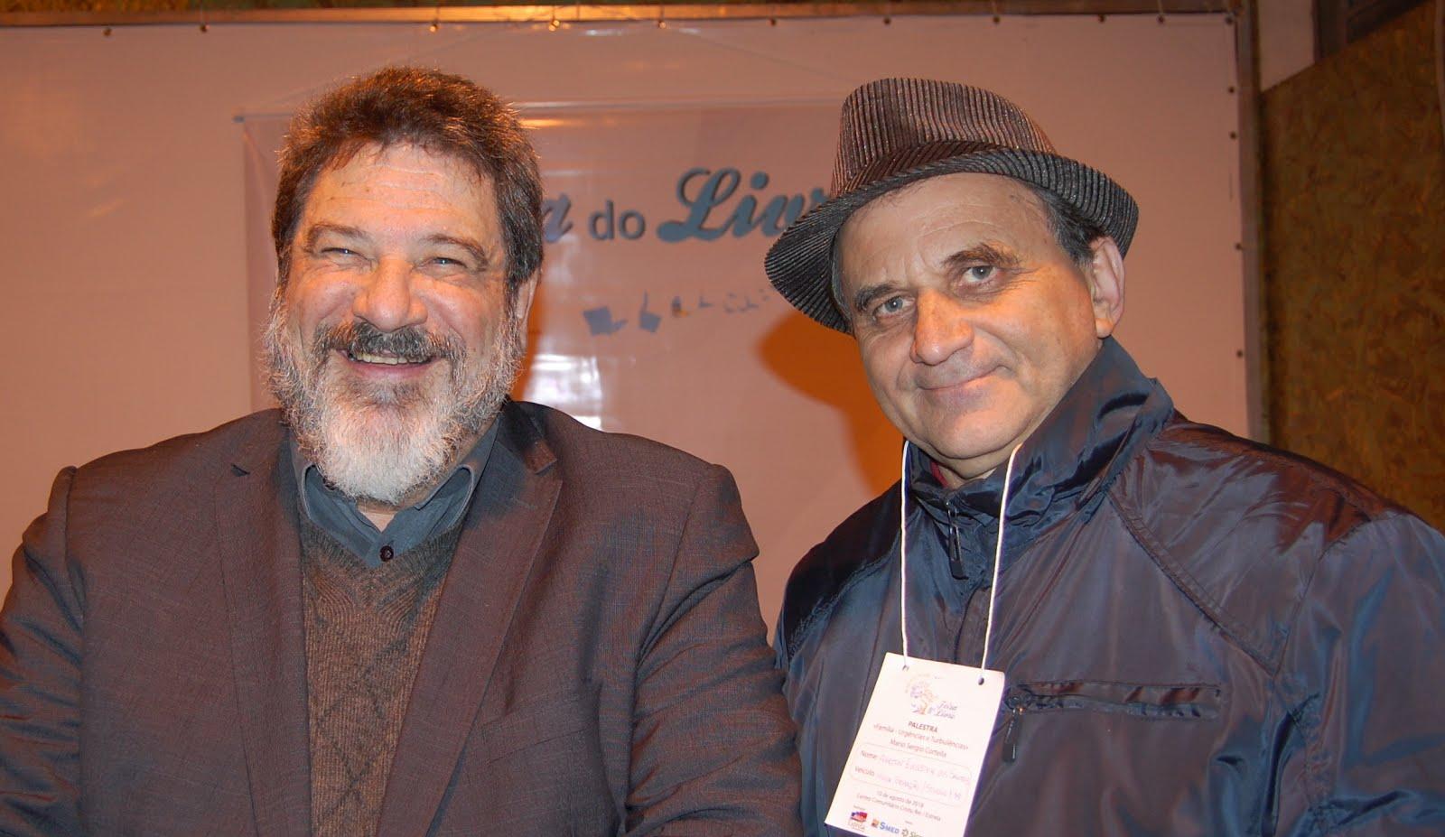 Filósofo e escritor Mario Sérgio Cortella no lançamento da 8ª Feira do Livro de Estrela-RS