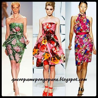 vestidos con flores