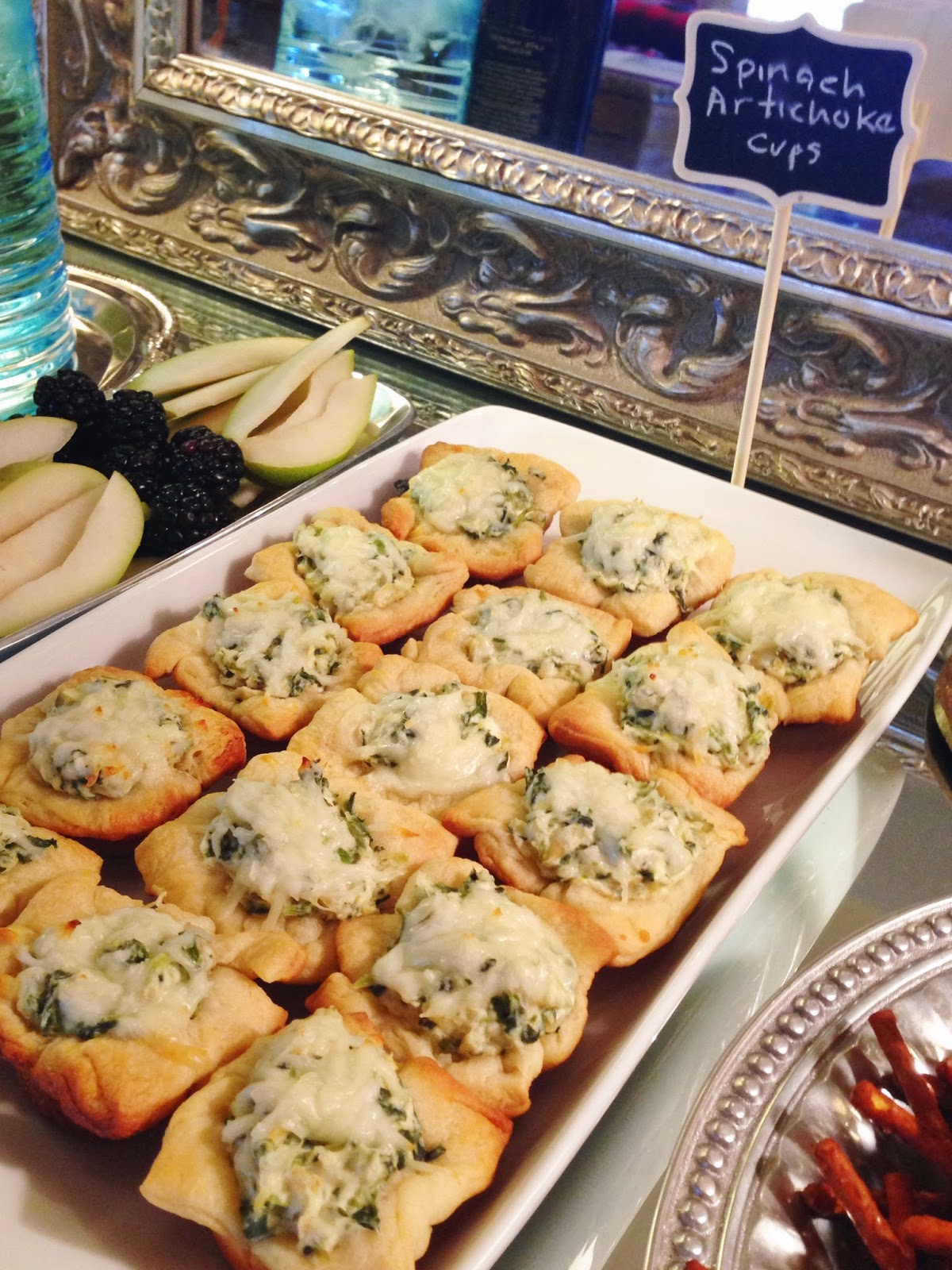 Nellie & Phoeb's: In the Kitchen- Spinach Artichoke Cups
