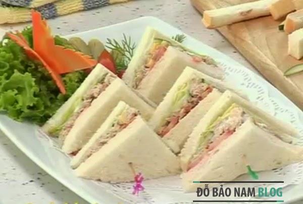 Cách làm bánh mì sandwich cá ngừ ngon