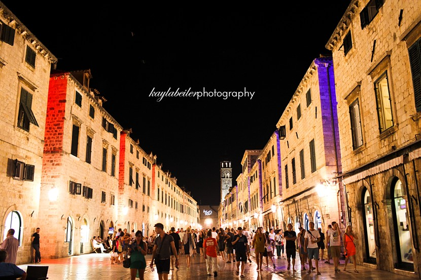 dubrovnik night time photo