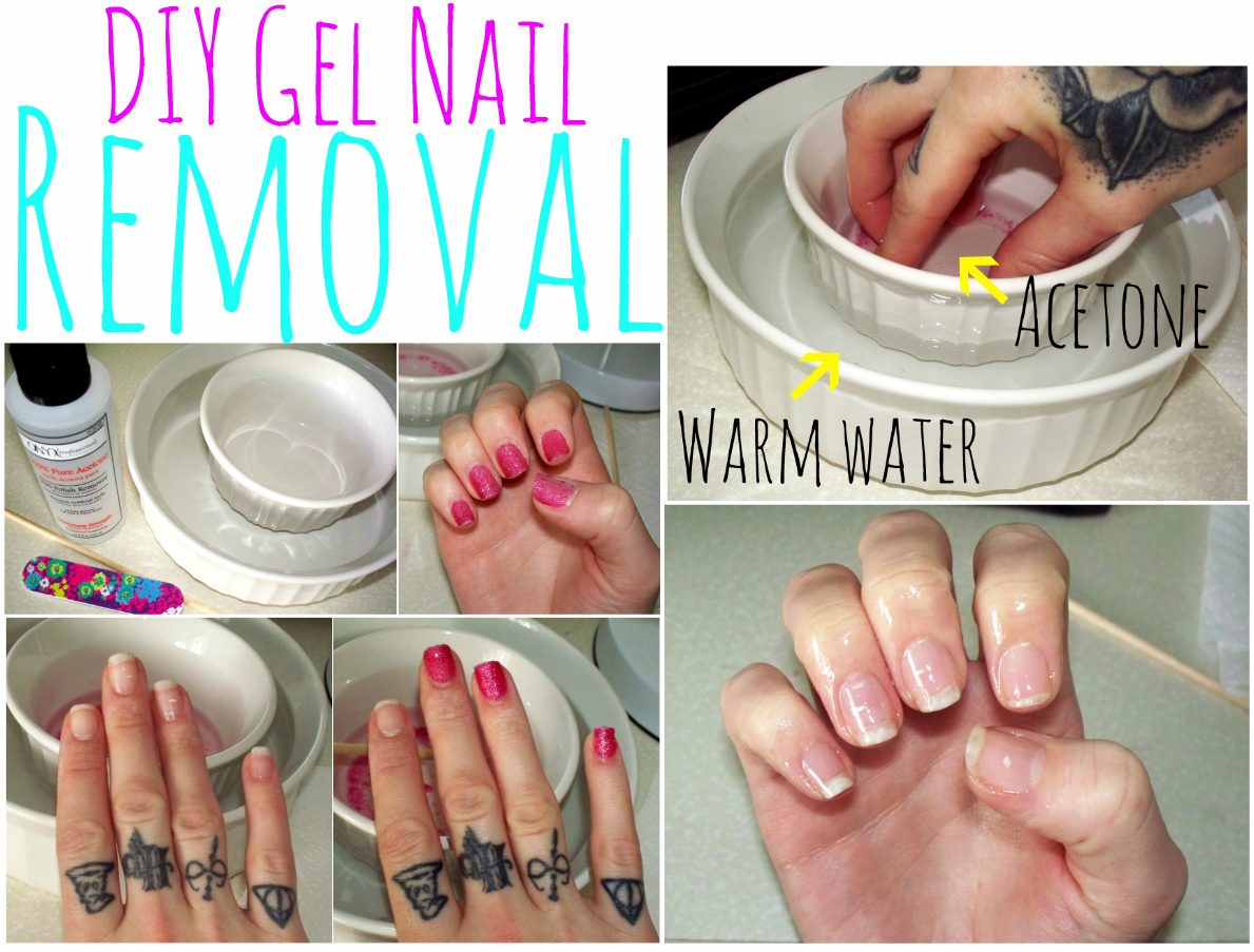 How to gel nails off at home