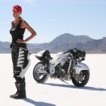 Leslie Porterfield celeb on motorcycles