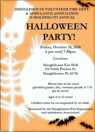 10-28 Shinglehouse Halloween Party