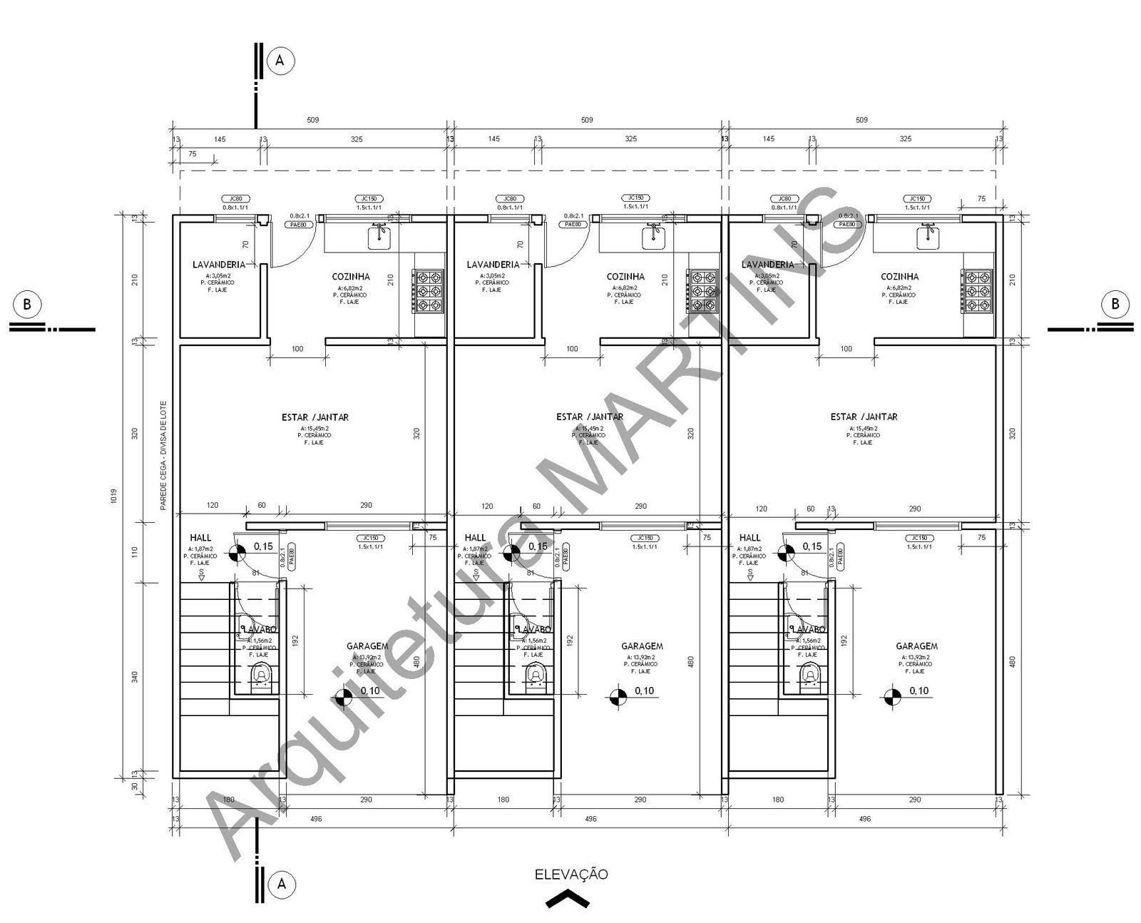planta de casas com 2 quartos e cozinha americana 3d 150x150 planta de  #303030 1600 1294