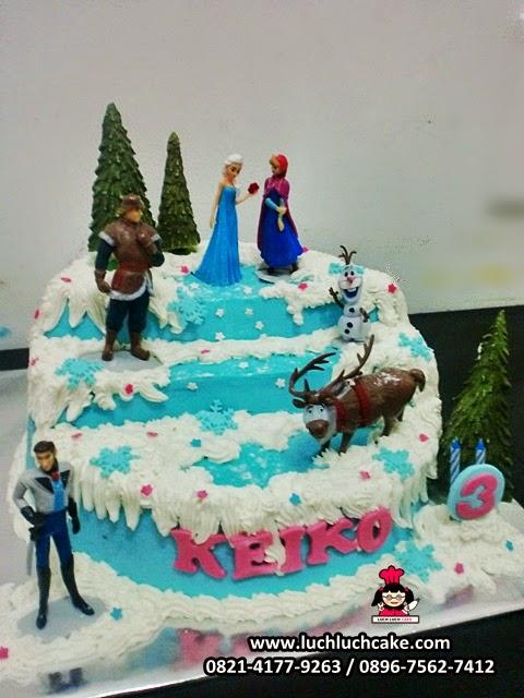 kue tart ulang tahun frozen movie daerah surabaya - sidoarjo