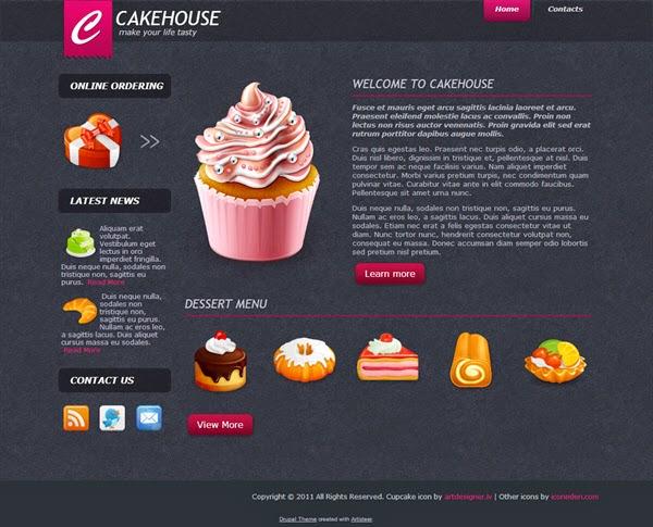 Cake House - Free Drupal Theme