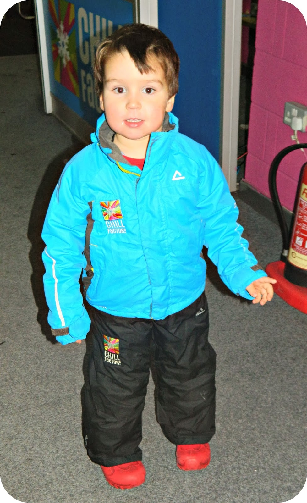 Ready for snow play at Chill Factore Manchester