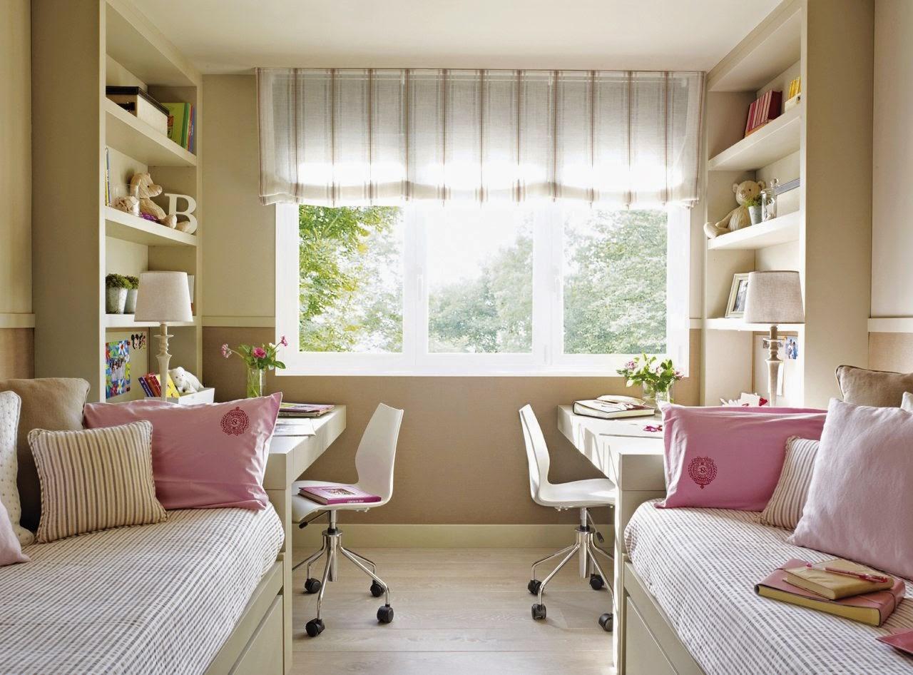 Dormitorio para gemelos dormitorios colores y estilos - Dormitorios para dos ninos ...