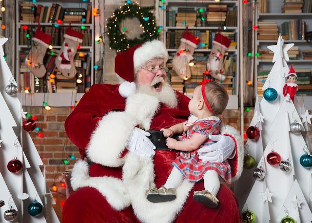 Little Miss Adventurous Tastes with Santa