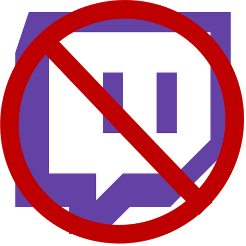 twitch logo with a circle cancel on it