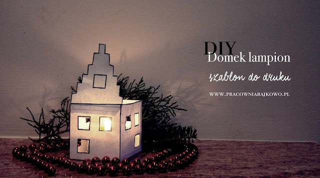 DIY - lampion domek