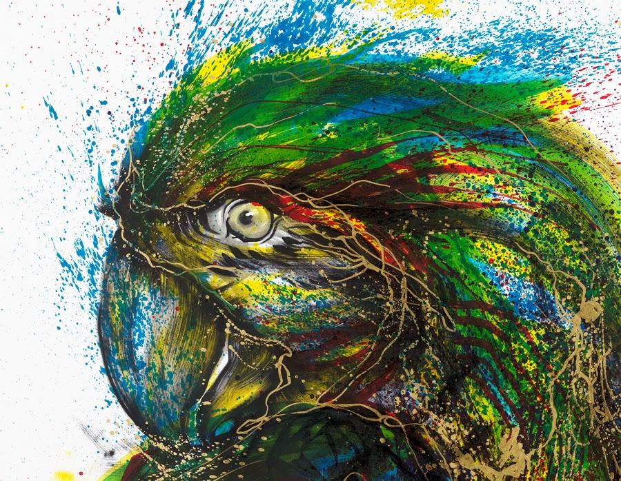 12-Parrot-2-Hua-Tunan-huatunan-Melting-&-Running-Ink-Drawings-www-designstack-co