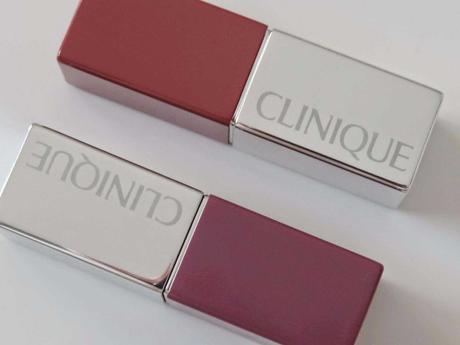 Clinique Pop Lip Colour and Primer (from top) Plum Pop, Grape Pop