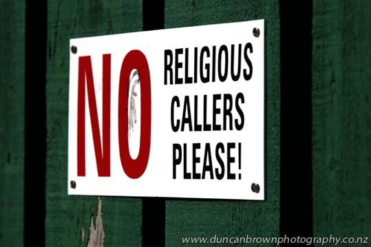 No religious callers please! Rugby fans excluded