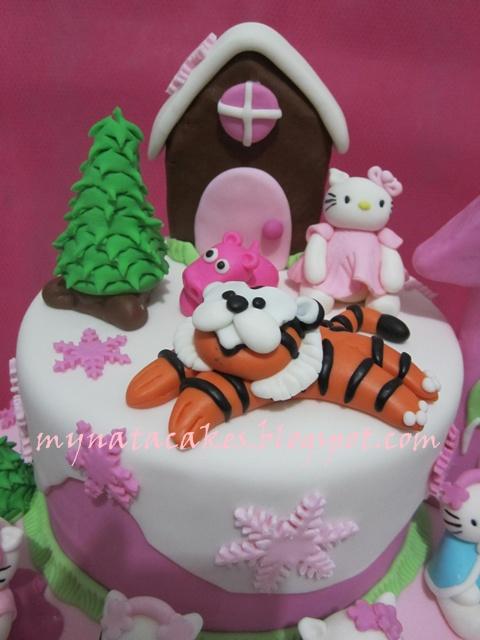 Mynata Cakes: Hello Kitty birthday cakes for Cheverlyn
